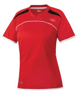 Women's Xara Cardiff Shirt, Red/Black/White - Adult Large