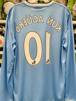 2013-14 Man City Home Nike Long Sleeve Shirt