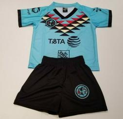 Club America Third Away Kid's Soccer Jersey And Shorts Futbo