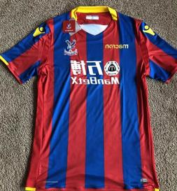 Macron Crystal Palace Home Soccer Jersey Players Issue NWT E