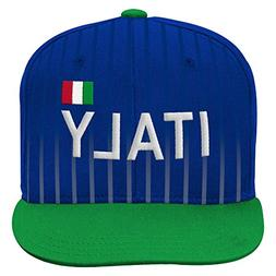 World Cup Soccer Italy Mens -Jersey Hook Flag Snapback, Gree