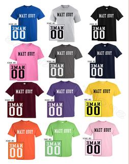 Custom T-Shirt Jersey Personalized Any Name Number Team Soft