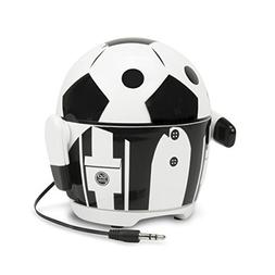 Cute Soccer Robot Rechargeable Portable Speaker with Passive Subwoofer