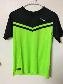 Nike Dri-Fit Soccer Jersey Neon Green / Black   Youth Boys X