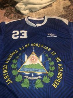 El Salvador Umbro Jersey  Soccer Football Blue XXL Shirt, Ne