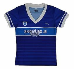 El Salvador Soccer Girls's Jersey Made by Arza Sports Made I