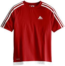 adidas Youth Soccer Estro Jersey, Power Red/White, Large