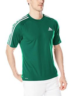 adidas Men's Estro 15 Soccer Jersey, Collegiate Green/White,