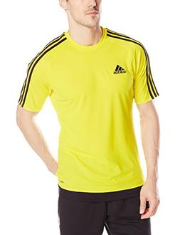 adidas Men's Estro 15 Soccer Jersey, Yellow/Black, Small