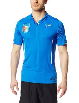 Puma Men's FIGC Italia Home Replica Soccer Jersey, Team Powe