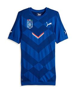 Puma Men's FIGC Italia Stadium Jersey, Team Power Blue/Pea C