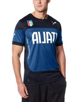 PUMA Men's FIGC Italia Training Jersey, Peacoat, Large