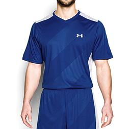 Under Armour Men's Fixture Soccer Jersey, Royal /White, Medi