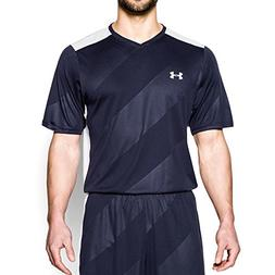 Under Armour Men's Fixture Soccer Jersey, Midnight Navy /Whi