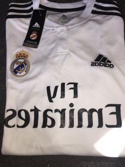 Adidas Fly Emirates Real Madrid white soccer jersey men size