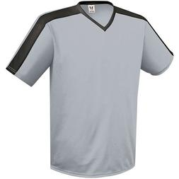 High Five Genesis Jersey,Silver Grey/Black, Youth Medium