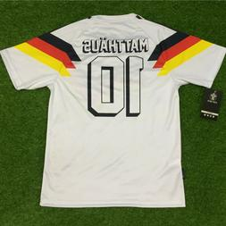 "Germany  Men's Retro Soccer Jersey, WC 1990, Matthäus ""Non"