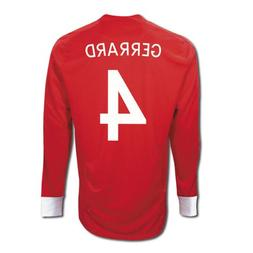 Umbro GERRARD #4 England Away Jersey Long Sleeve