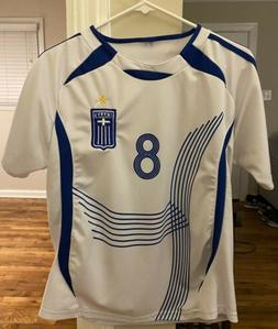 Giannakopoulos Greece Soccer Jersey Size Small