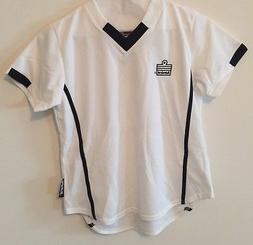 Admiral Girls Youth Soccer Jerseys - White with Black Accent