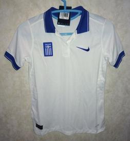 NIKE Greece Home 2014 World Cup White Royal Blue Soccer Jers