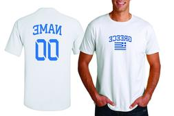 Greece T-shirt Soccer Jersey any Sports Add Any Name & Numbe