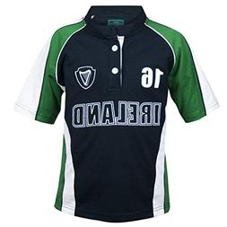 Croker Kids Green and Navy Sports Rugby Jersey