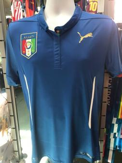 Puma Italy Home Blue/ White soccer jersey 2014 Size M Men'