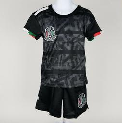 KIDS Mexico Black Soccer Jersey & Shorts 2019 Copa Oro Jerse