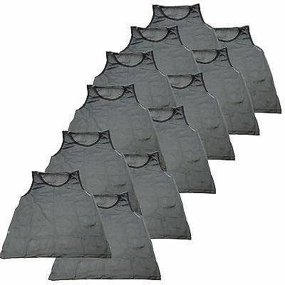 12 Scrimmage Training Pinnies Football ADULT Gray Grey NEW