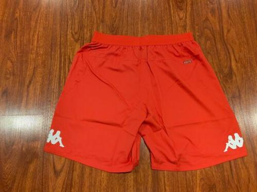 2015-16 Men's Napoli Third Red Soccer Jersey Shorts XL Large