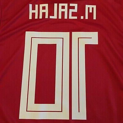 2018 Home Jersey #10 Mohamed Salah Large Adidas World Cup Soccer NEW