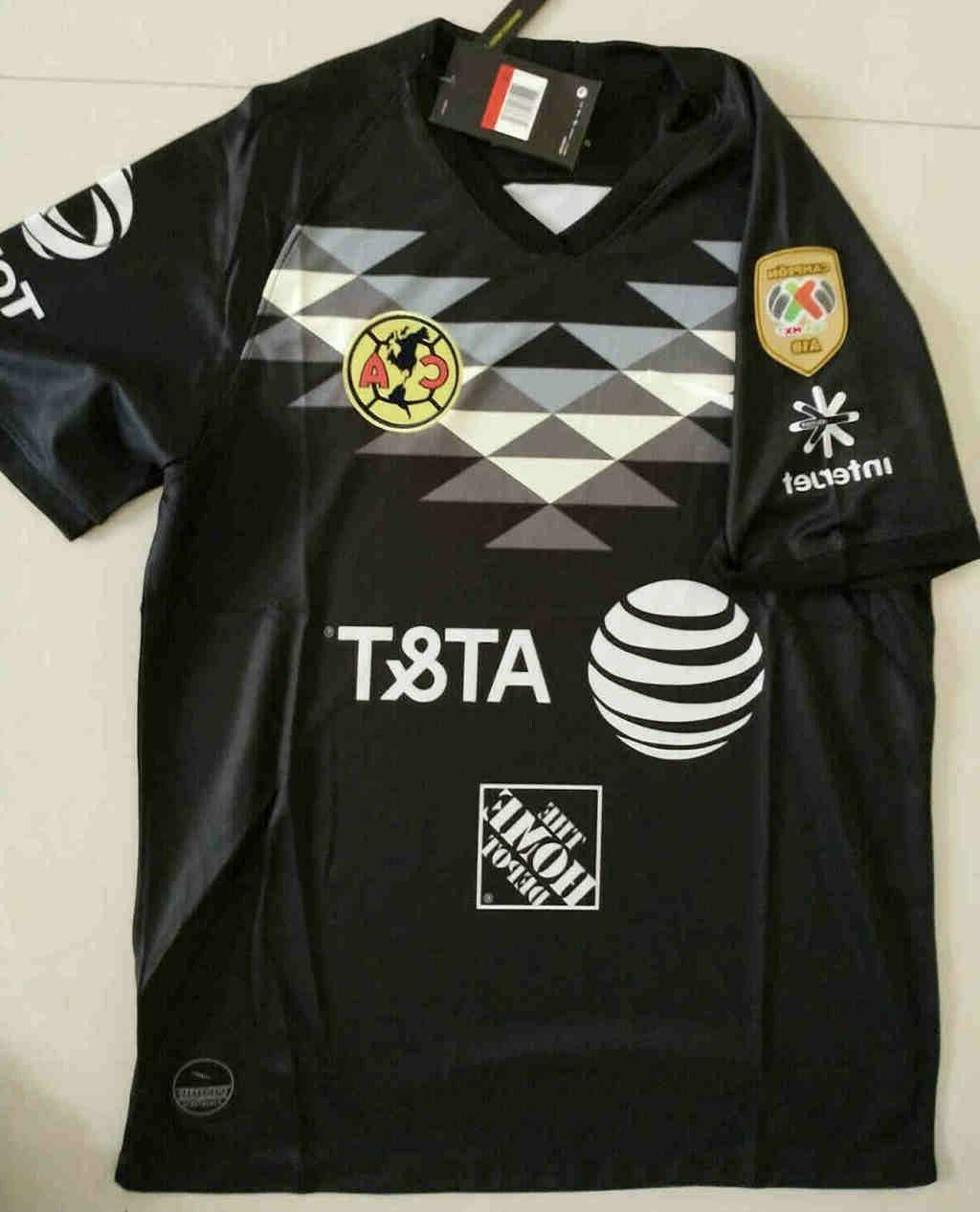 2019-2020 Club America goalkeeper soccer Jersey And A18 LIGA