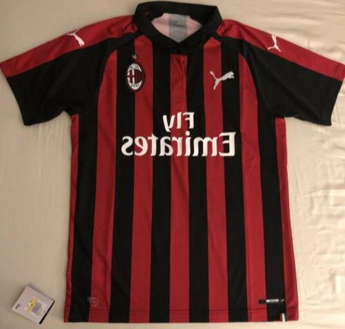ac milan home soccer jersey adult size