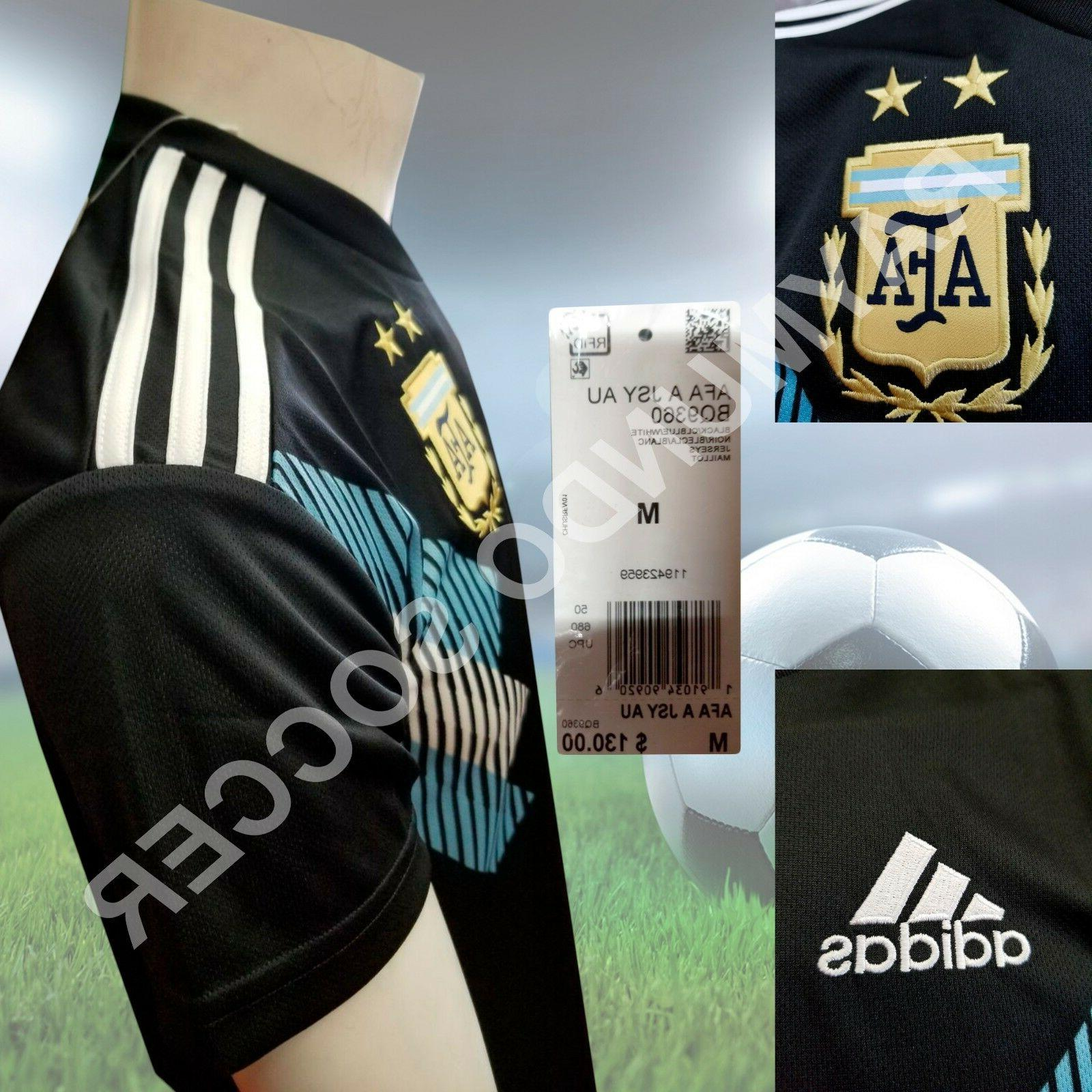 Adidas Argentina 2018 Away BLACK / CLEAR