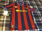 Barcelona FC Futbol Nike New W/Tags YOUTH Medium Size Jersey