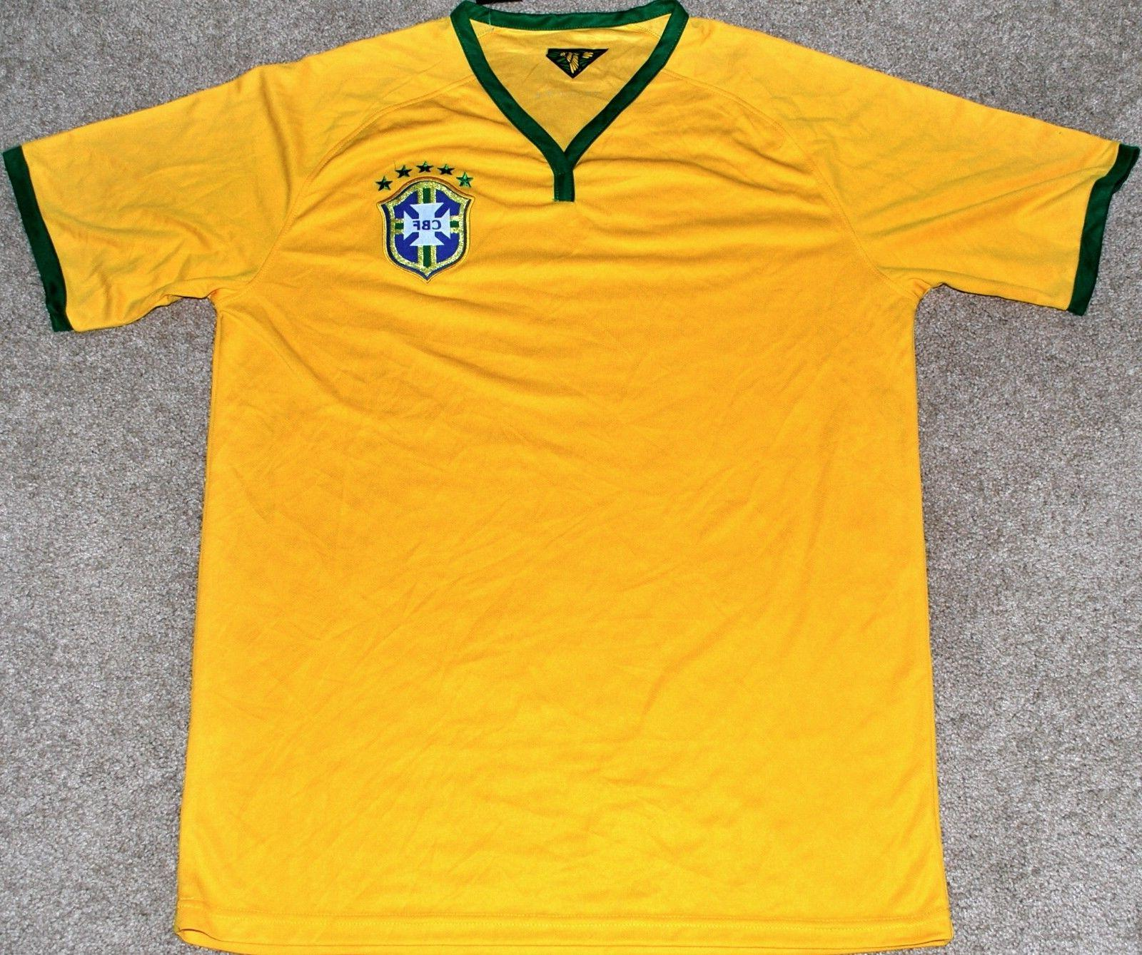 BRAZIL MEN'S SOCCER FUTBOL JERSEY FIFA WORLD CUP LARGE OR XL