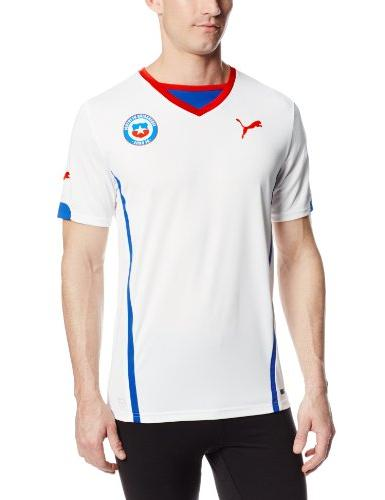 promo code dfa69 99983 Puma Men's Chile Away Replica Soccer Jersey, White, Large