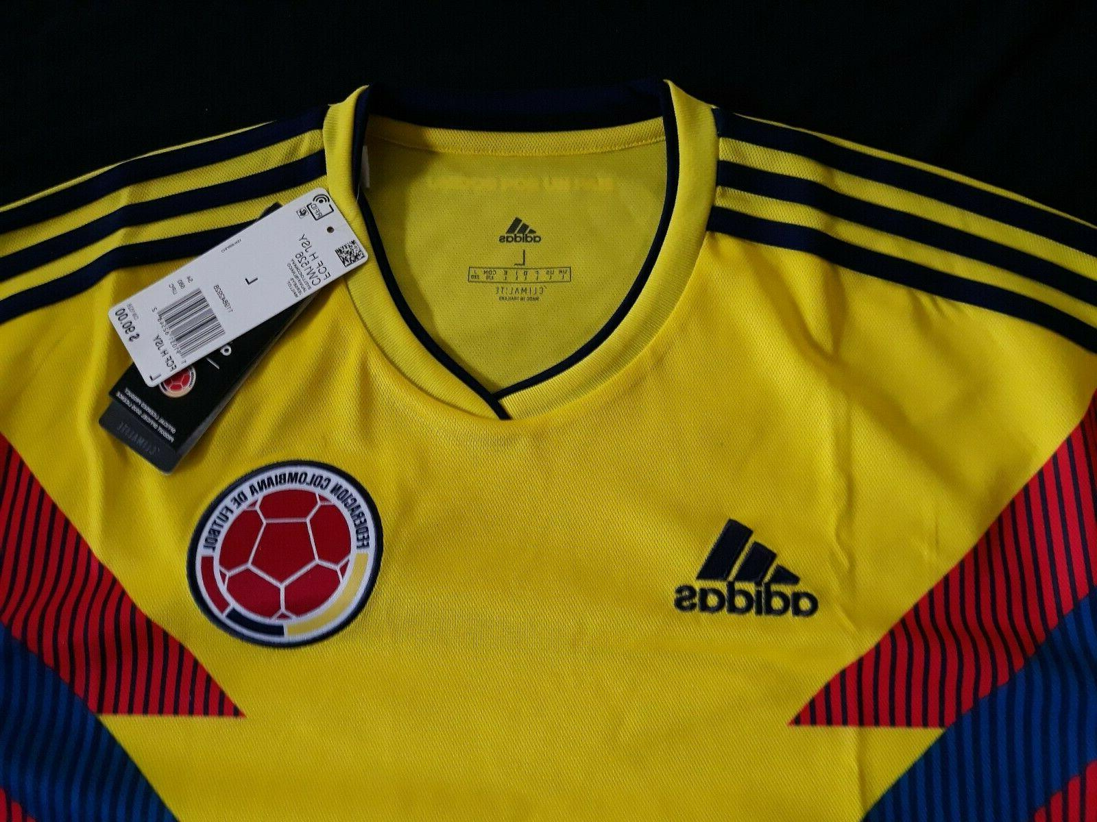 colombia men s soccer home jersey model