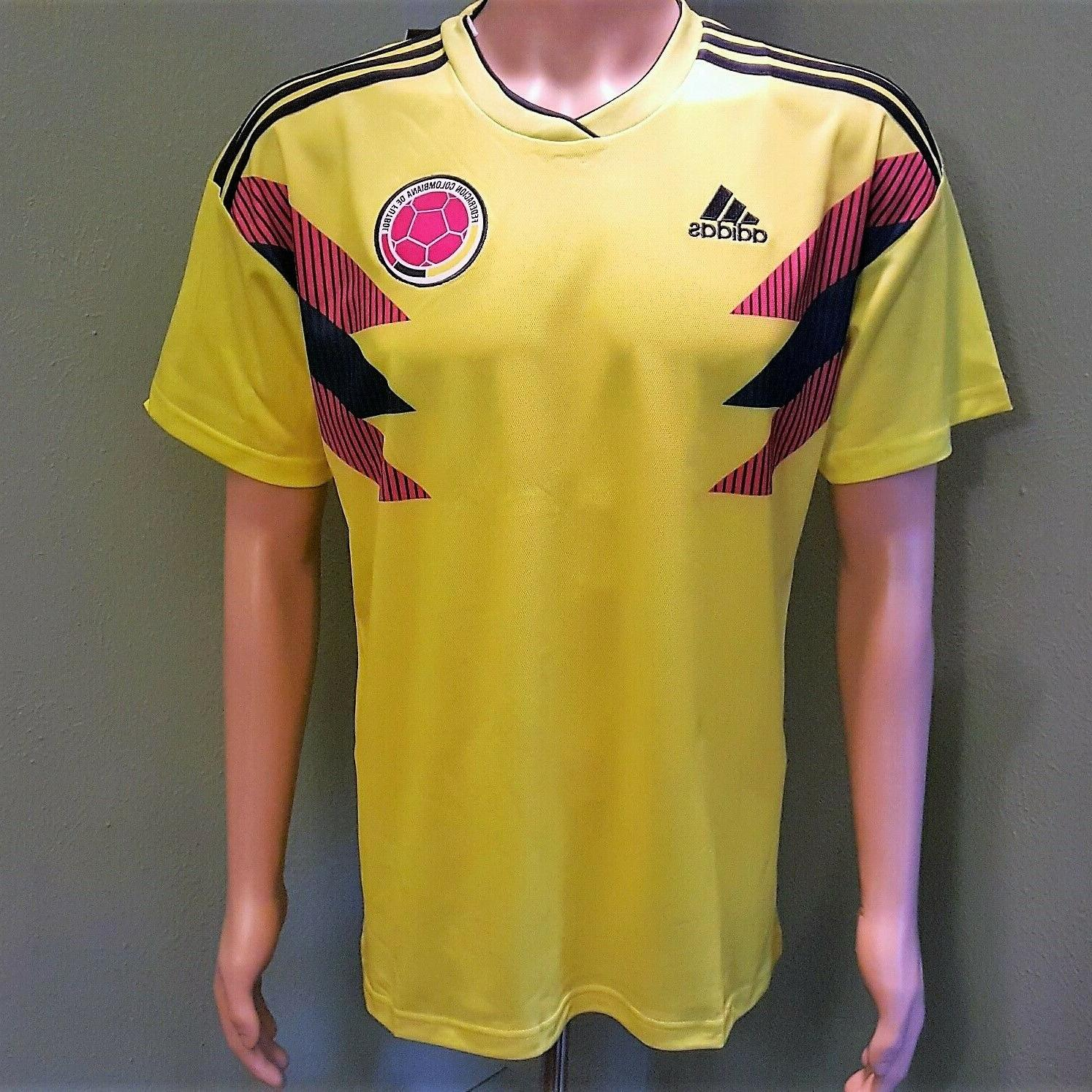 new concept 64cc4 54021 Colombia National Team Home Men's Soccer Jersey 2018