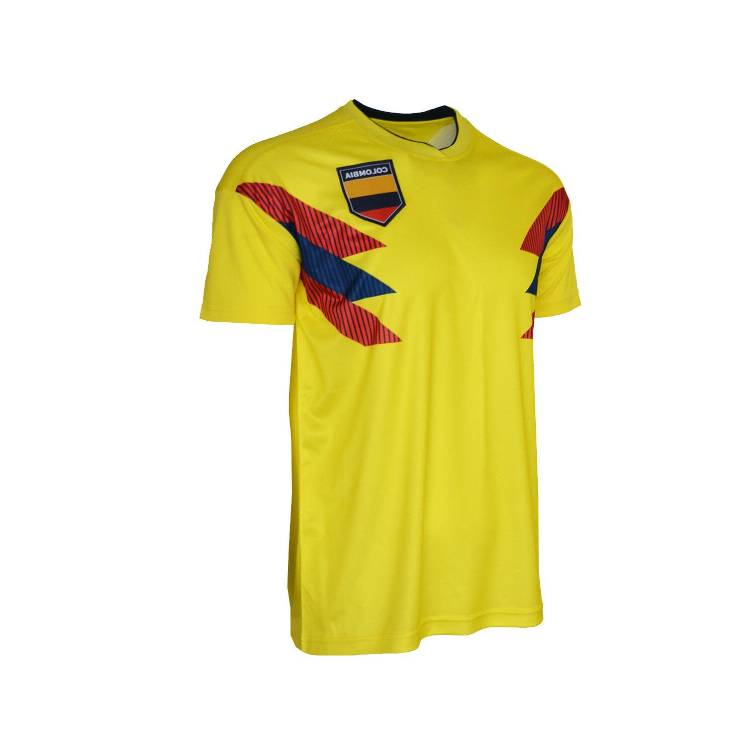new concept 26d07 ce1a3 Colombia National Team Jersey Patriotic Yellow Flag Shield Pride Sports  Soccer