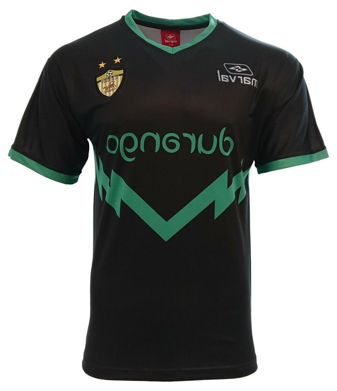 durango adult men soccer jersey black by