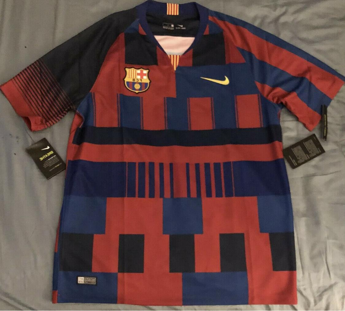 fc barcelona soccer jersey adult size small