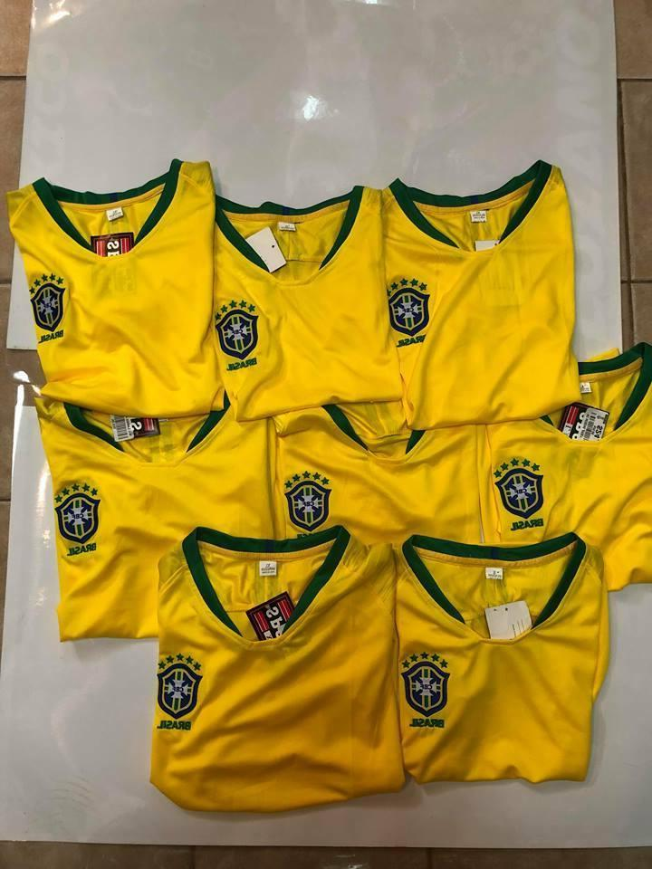 LOT OF 8 BRAZIL HOME REPLICA WORLD CUP 2018 JERSEYS YELLOW W