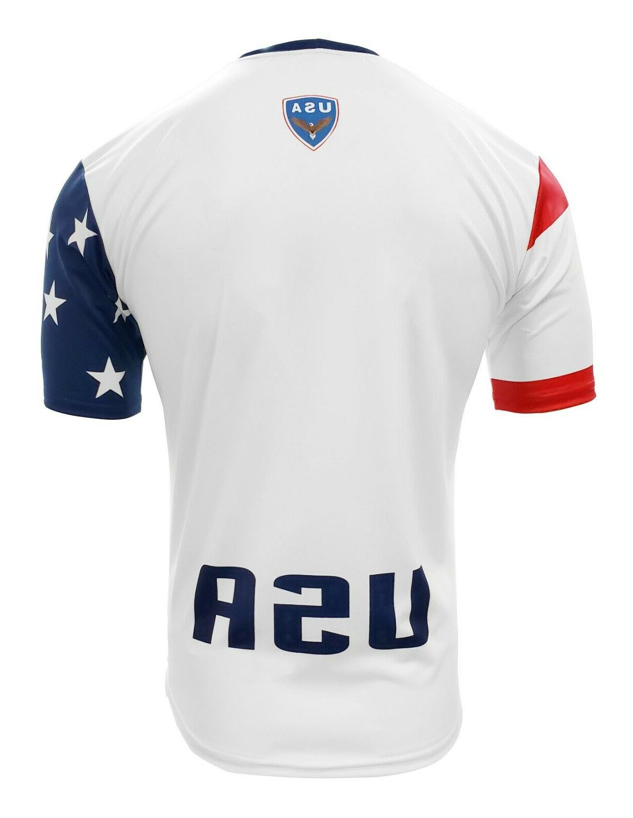 Men's USA Jersey White/Red/Blue