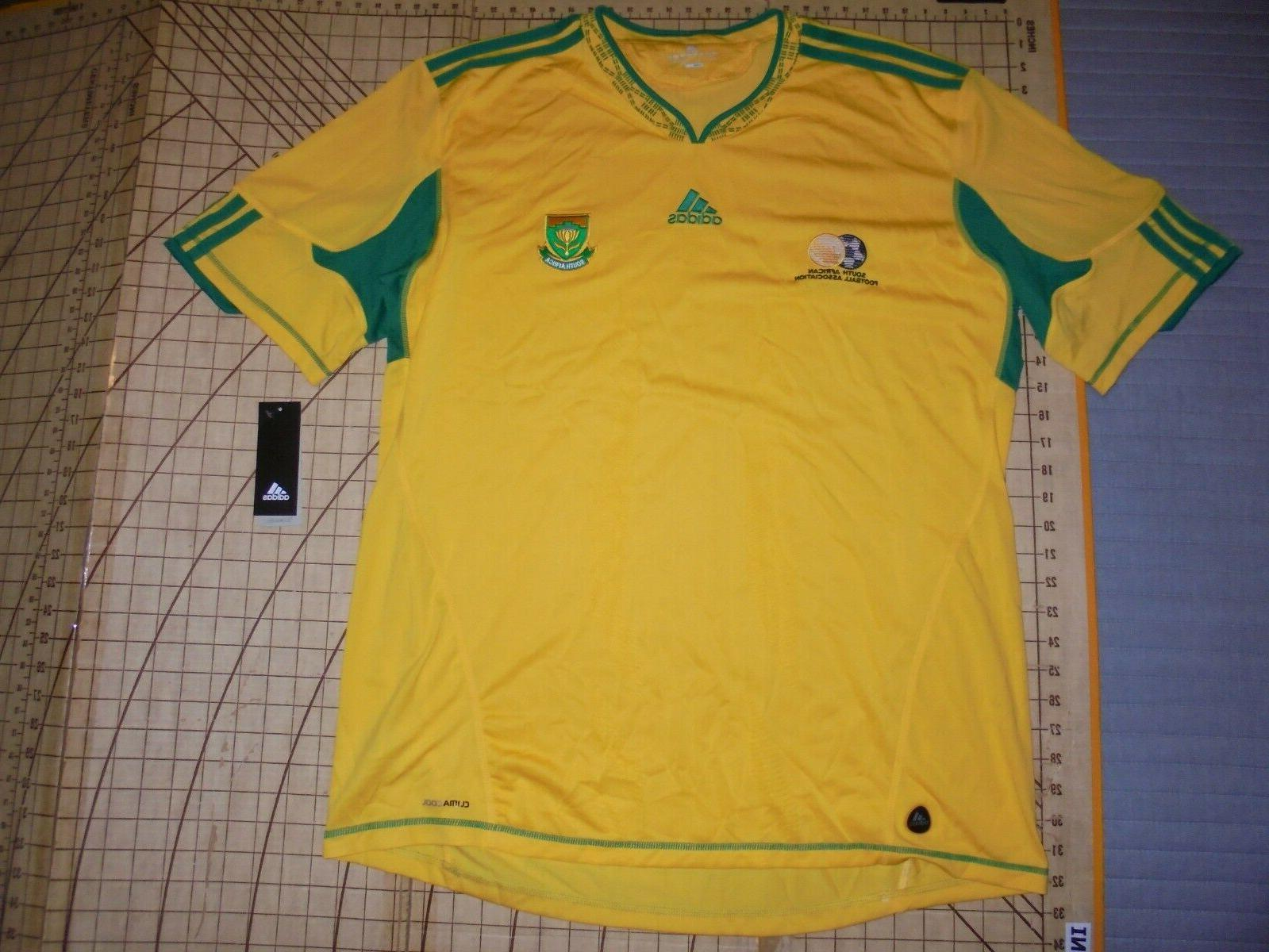 mens 2xlarge yellow green south africa soccer
