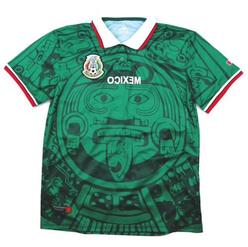mexico 1998 home soccer jersey