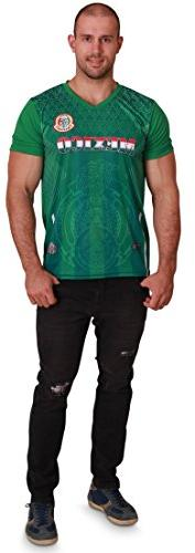 Men's Mexico World Cup 2018 Green Soccer Jersey, Men Size S/