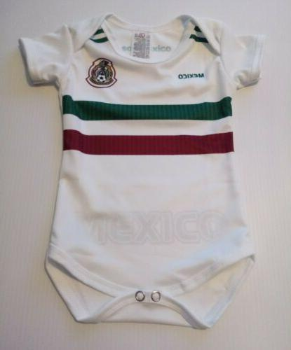 mexico 2018 white baby soccer jersey mameluco