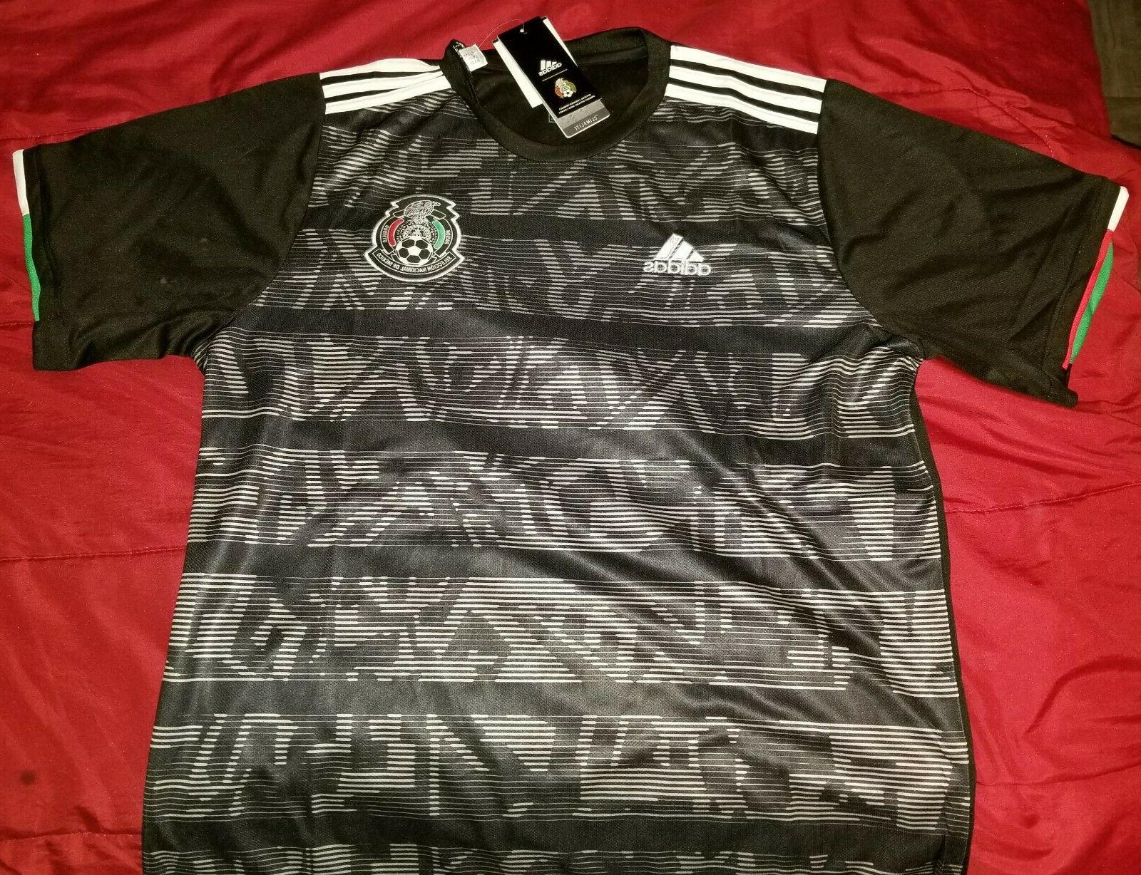 Mexico Black Jersey Gold